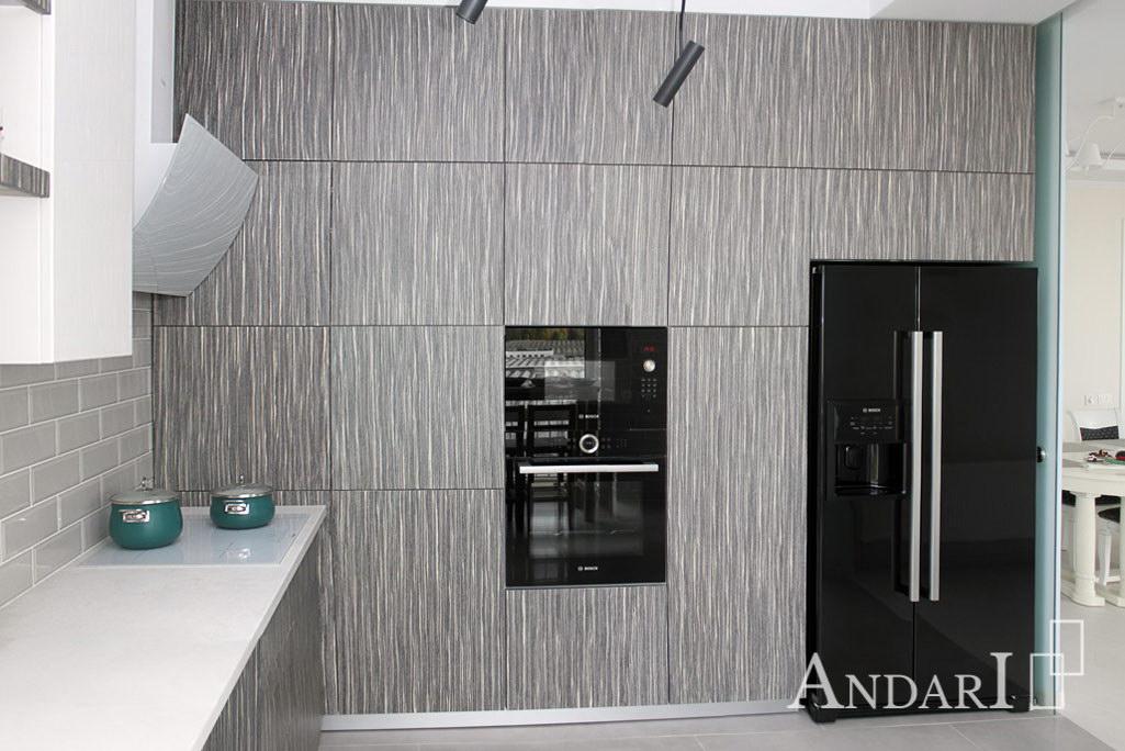 Кухня с фасадами из шпона - Андари