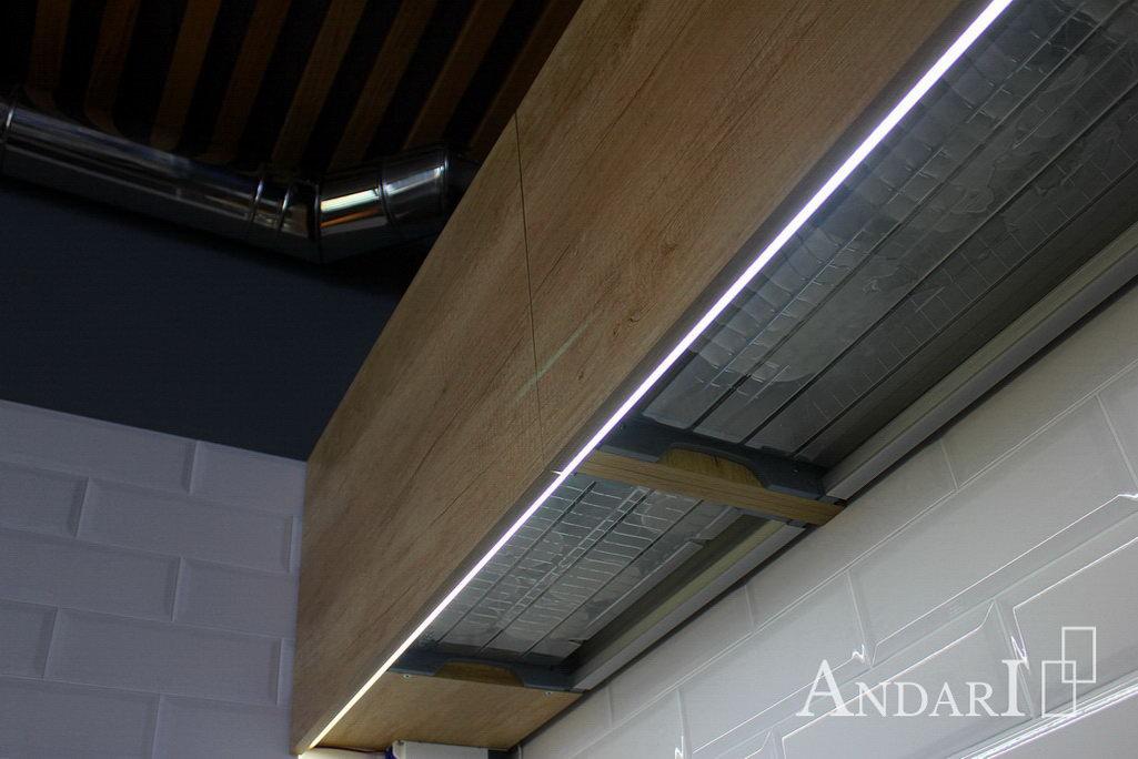 Светодиодная подсветка на кухне Андари