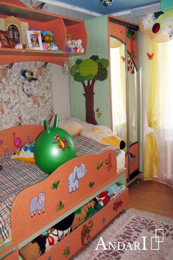 Шкаф для одежды в детской - Андари