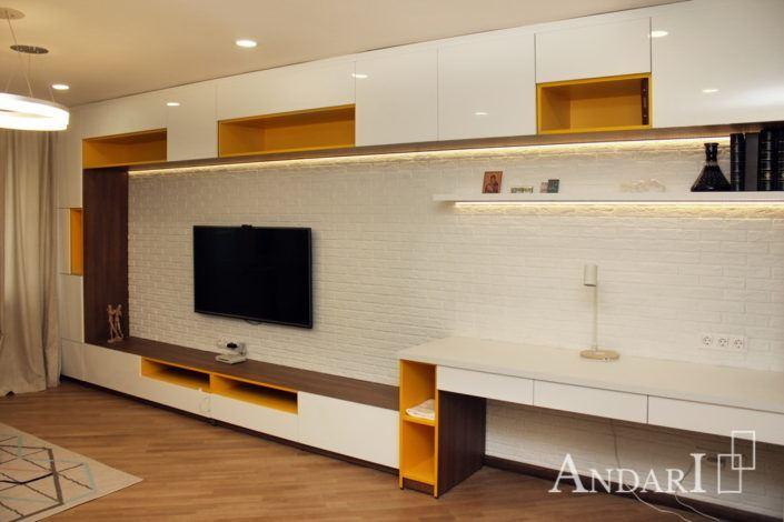 Встроенная мебель для гостиной Андари