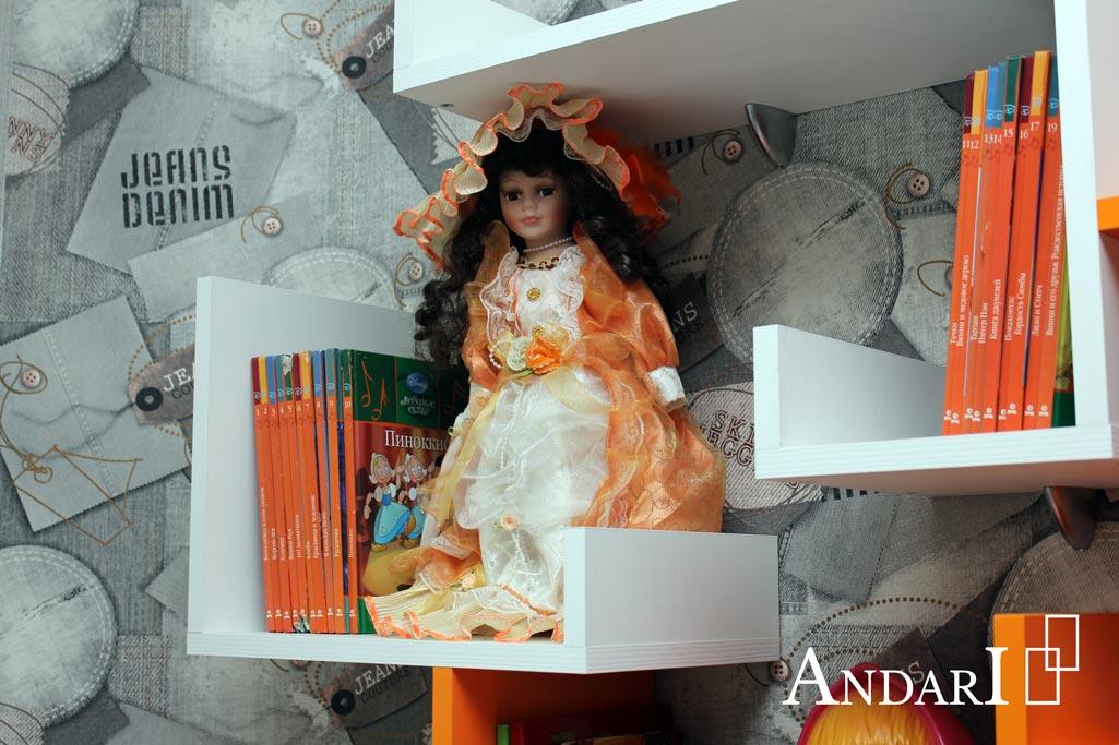 Навесные полки в детской комнате - Андари