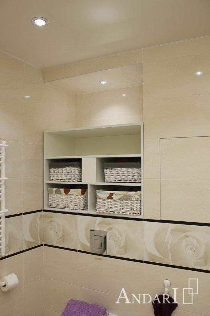 Полки в нише в ванной комнате - Андари