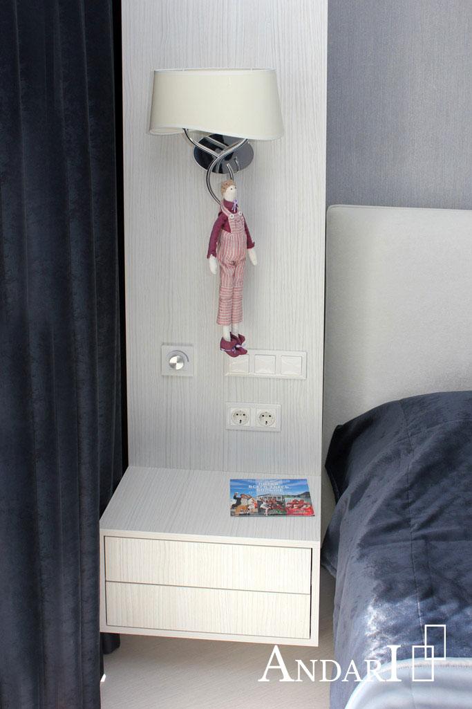 Подвесная тумба в спальне - Андари