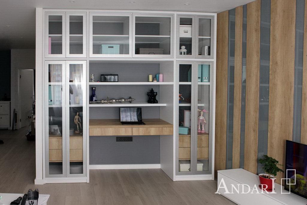 Гостиная с витринами в стиле лофт Андари