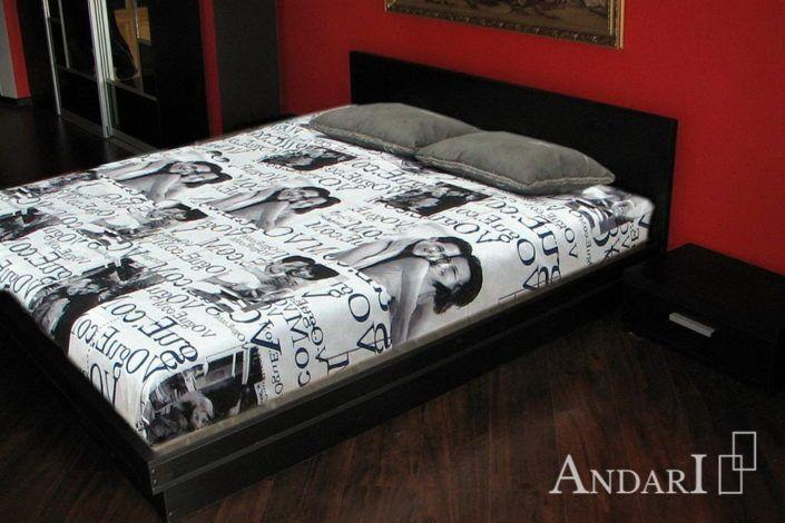 Красно-черная мебель для спальни Андари