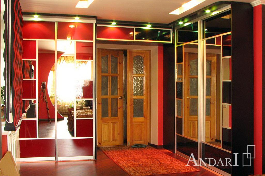 Два двухдверных шкафа-купе в спальне - Андари