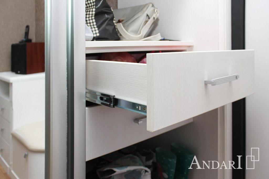 Зеркальный шкаф-купе ящики Андари