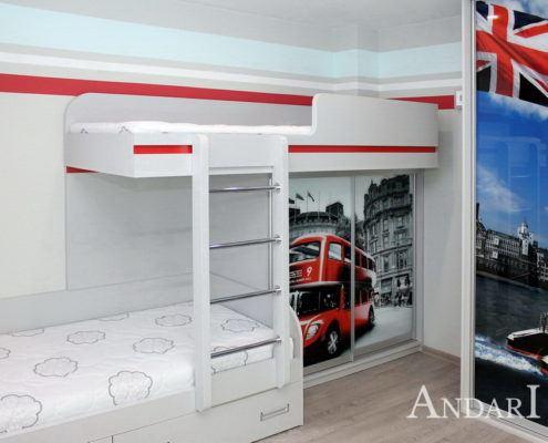 """Детская комната для мальчиков с фотопечатью """"Лондон"""" - Андари"""