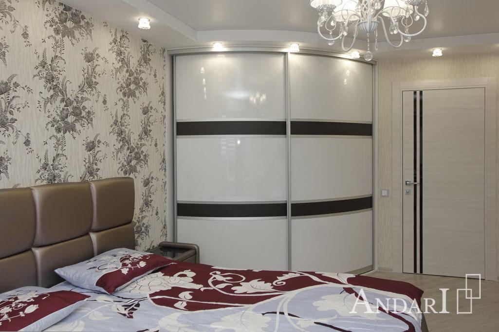 радиусный шкаф купе в спальне андари шкафы купе на заказ