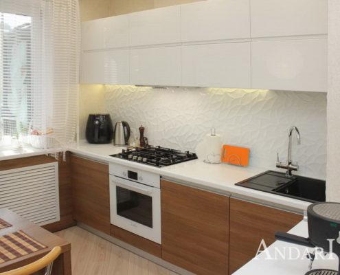 Угловая кухня с интегрированными ручками - Андари