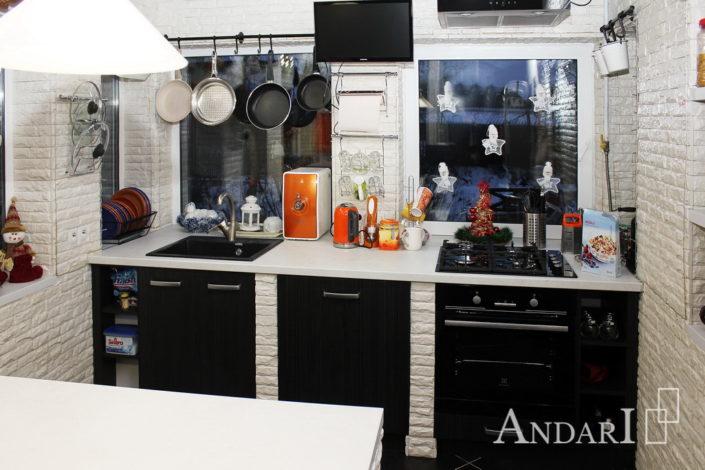 Кухня со столом-островом - Андари