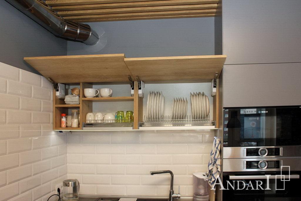 угловая кухня в стиле лофт Андари