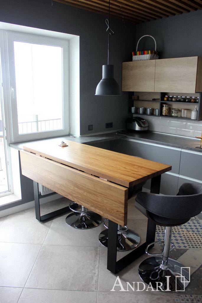 Раскладной стол из массива дуба - Андари