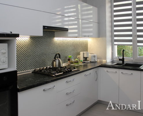 угловая кухня белая Андари