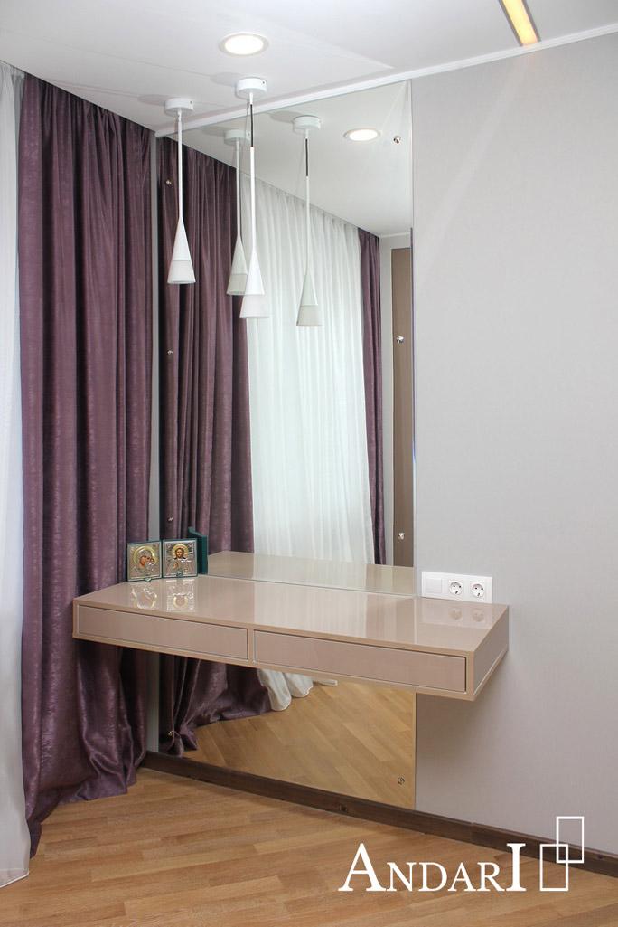 Туалетный столик с зеркалом в спальне - Андари