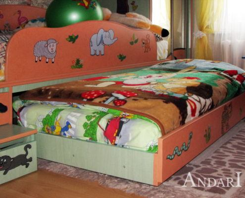 Детская с выдвижной кроватью - Андари