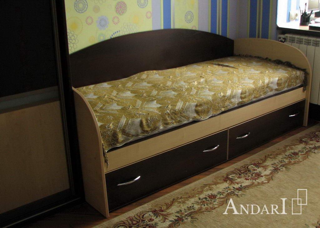 Кровать с двумя выдвижными ящиками - Андари