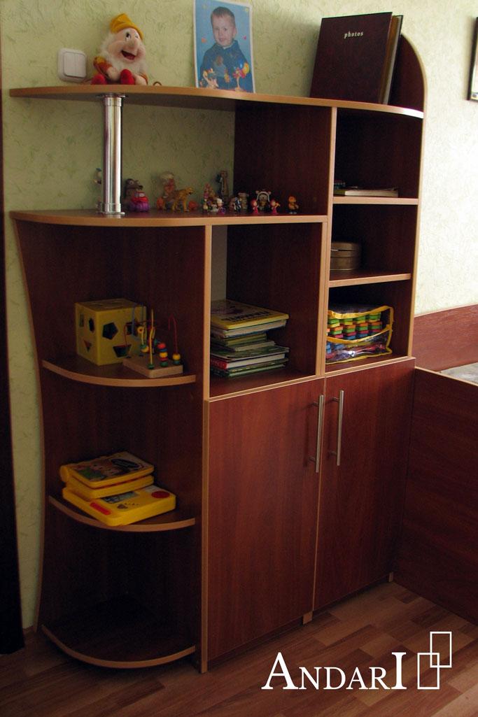 Стеллаж для книг и игрушек в детской - Андари