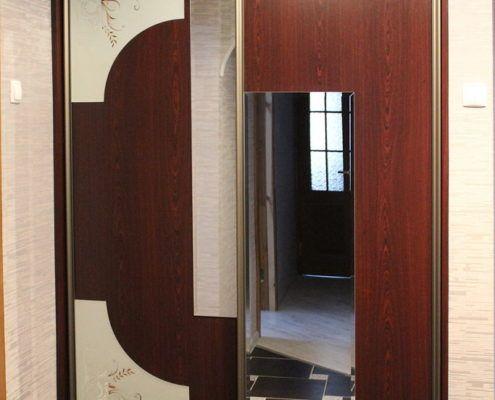 Встроенный двухдверный шкаф-купе Андари