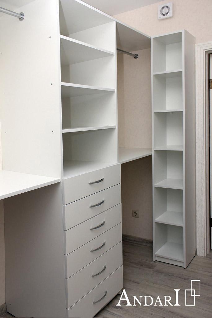 Выдвижные ящики и стеллаж в гардеробной - Андари
