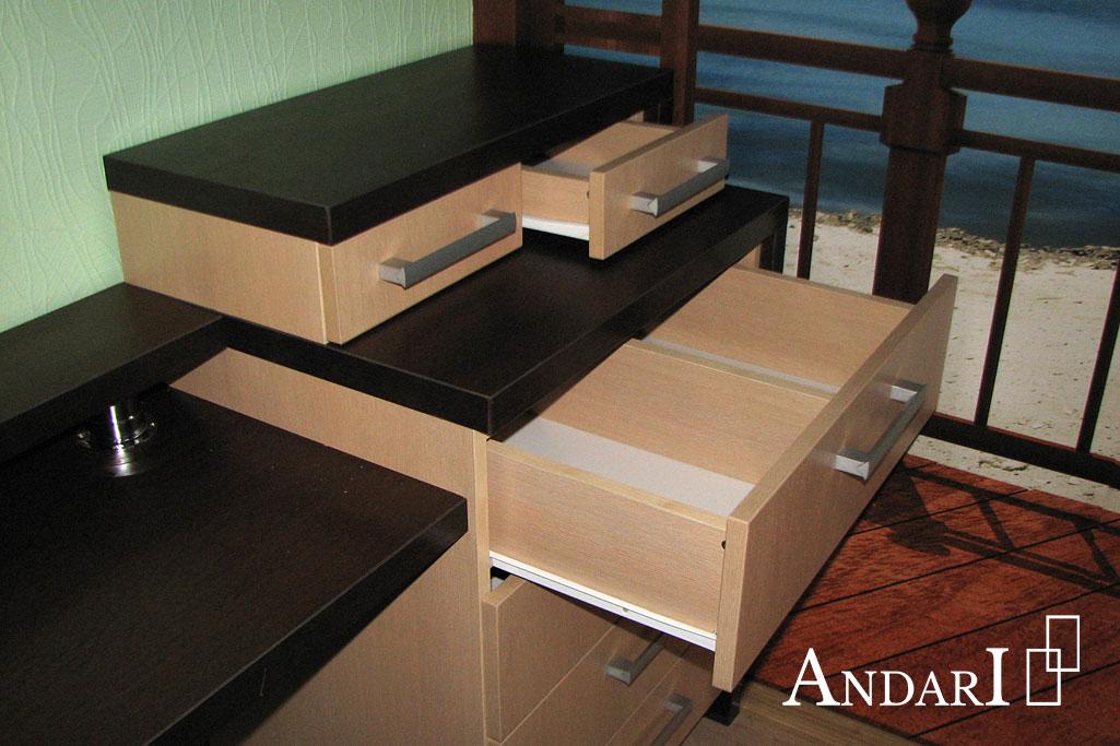 Выдвижные ящики с разделителями в комоде - Андари