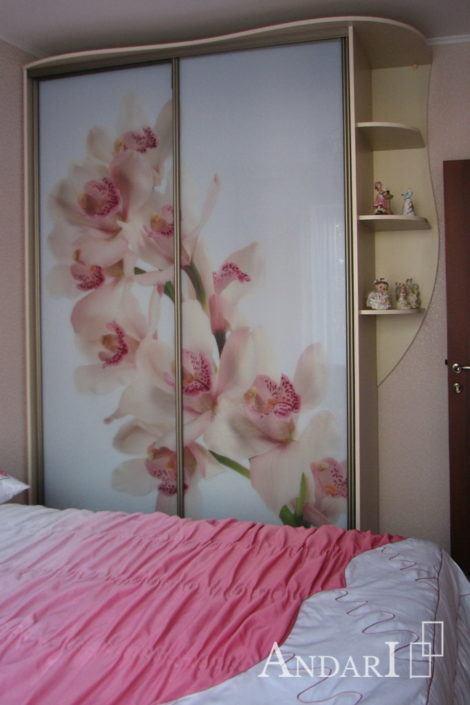 """Шкаф-купе с фотопечатью """"Орхидея"""" - Андари"""