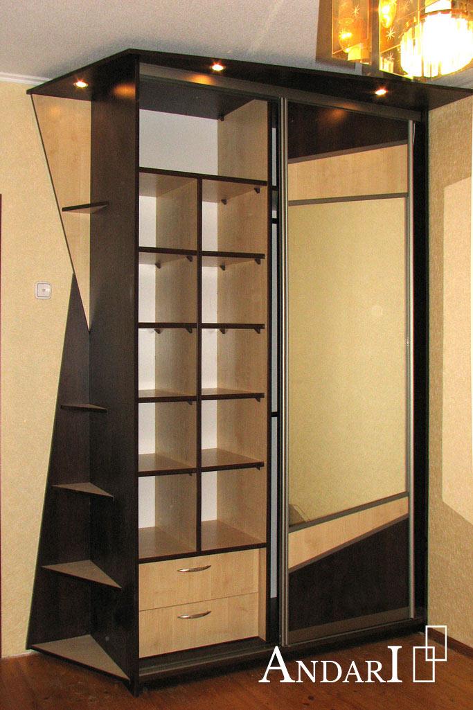 Наполнение шкафа-купе: полки и выдвижные ящики- Андари