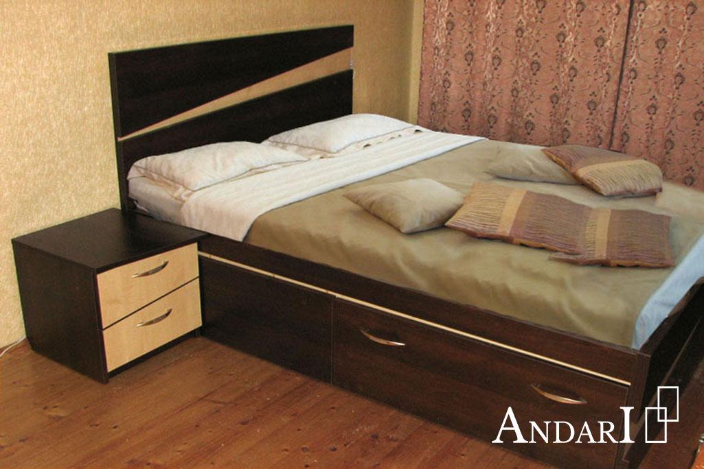 Двухцветный набор мебели для спальни - Андари