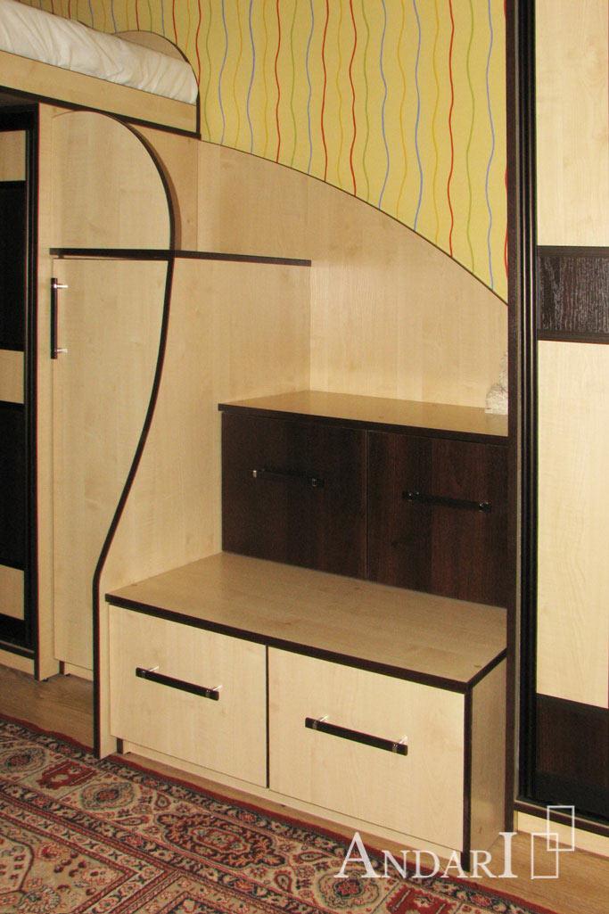 Лестница-комод в двухъярусной кровати - Андари