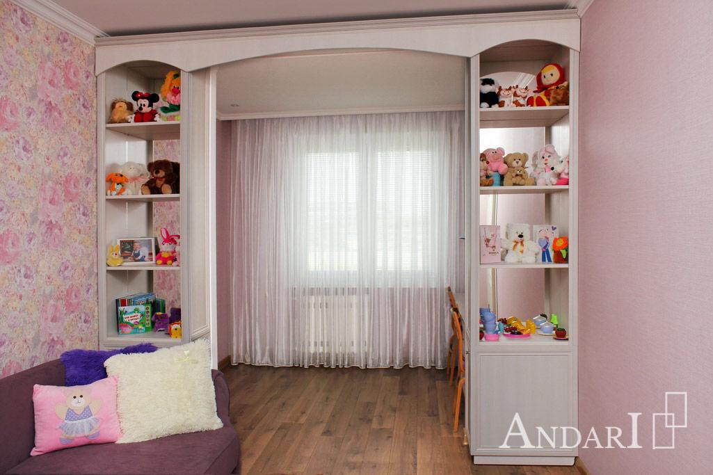 Зонирование детской комнаты стеллажами - Андари
