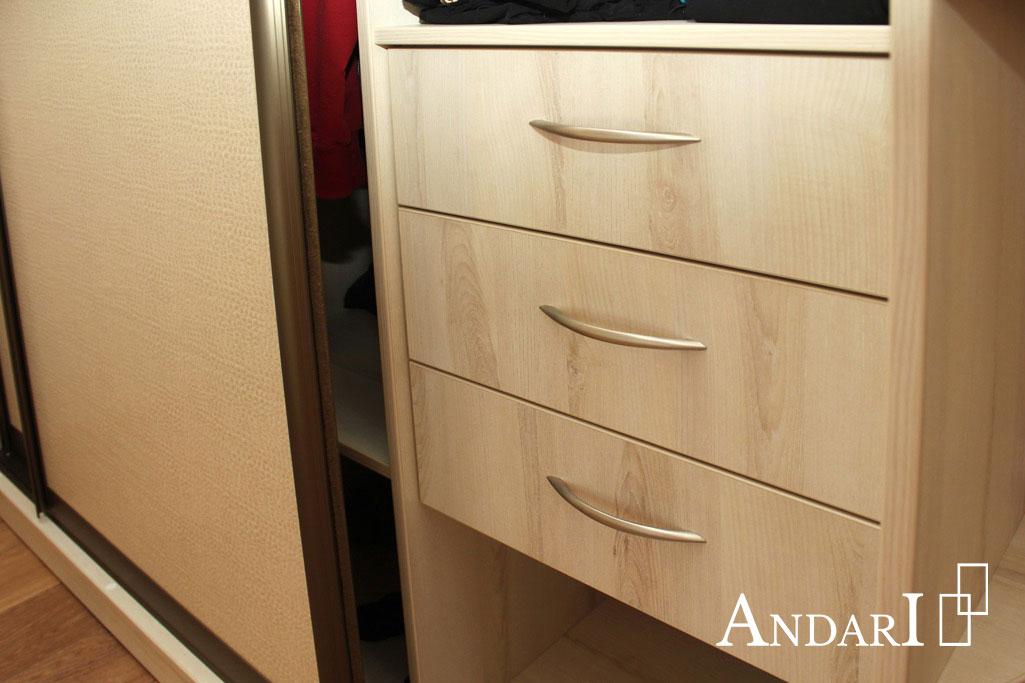 Наполнение шкафа-купе: блок выдвижных ящиков - Андари
