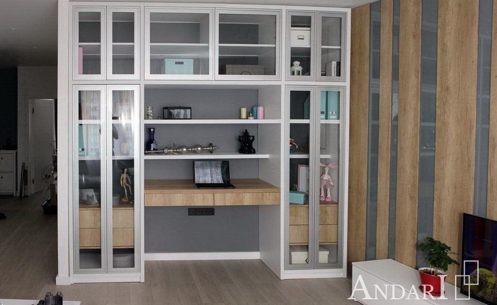 Гостиная с витринами в стиле лофт - Андари