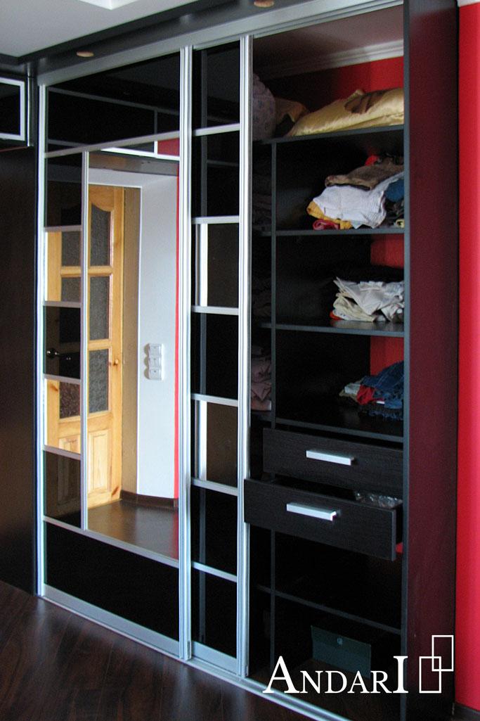 Наполнение шкафа-купе в спальне - Андари