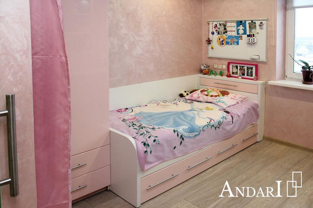 Кровать с выдвижными ящиками в детской - Андари