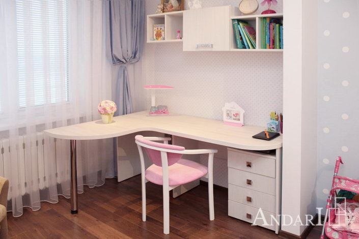 Детская комната с угловым столом - Андари