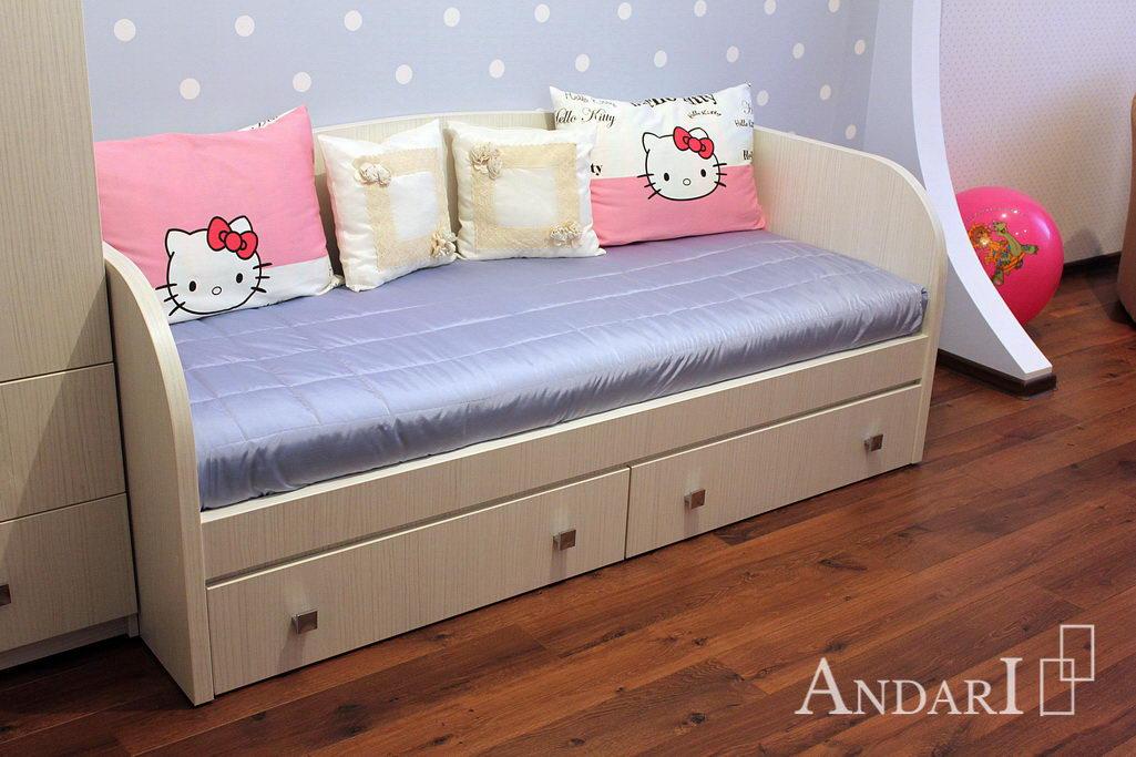 Детская кровать с выдвижными ящиками- Андари