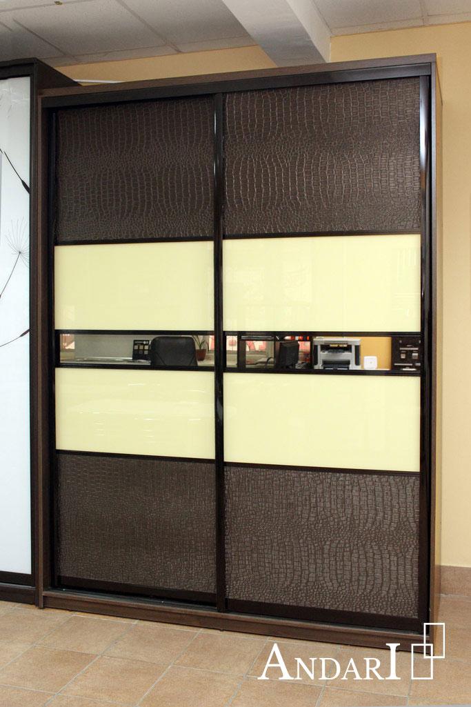 Шкаф-купе со вставками из экокожи Андари