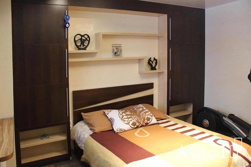 Мебель для спальни с декоративными вставками- Андари
