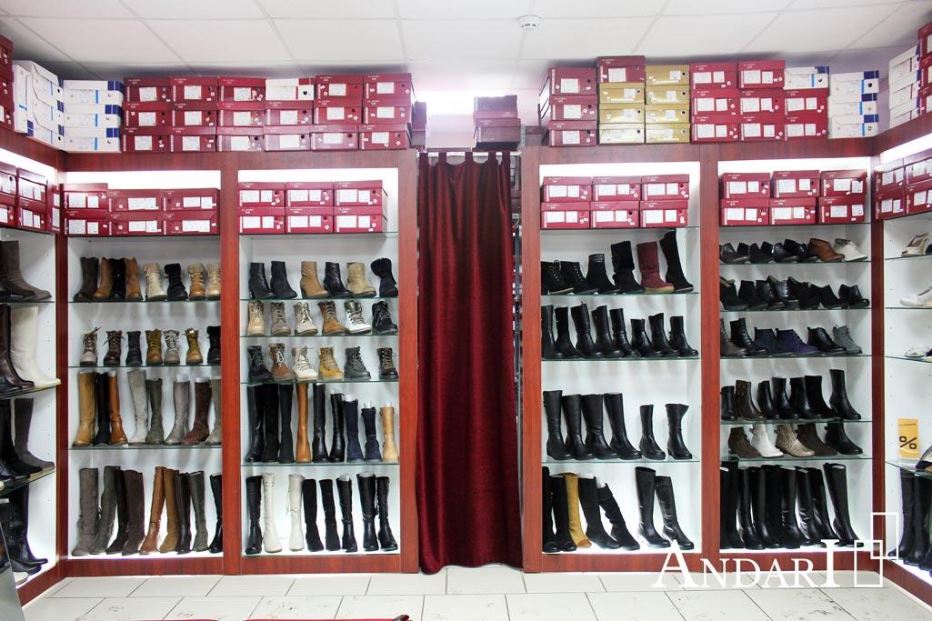Стеллажи в магазине обуви - Андари