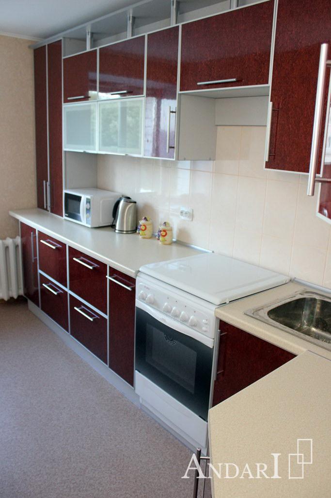 Кухня с фасадом из пластика с газовой плитой - Андари
