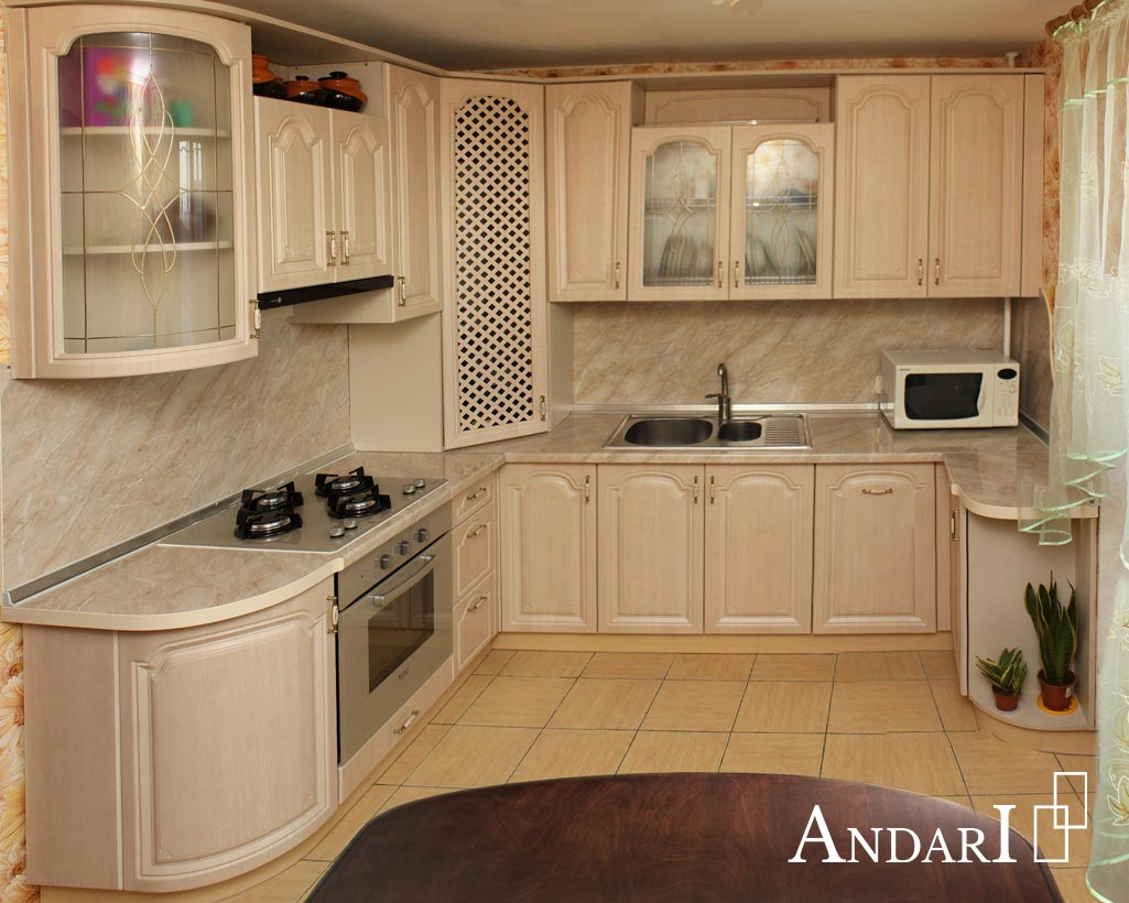 П-образная кухня в классическом стиле, угловая кухня