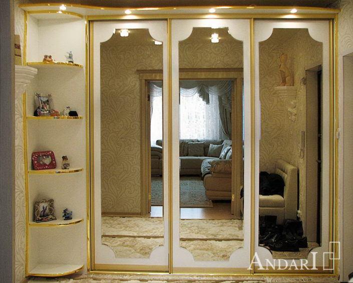 Шкаф-купе с фигурными зеркалами Андари