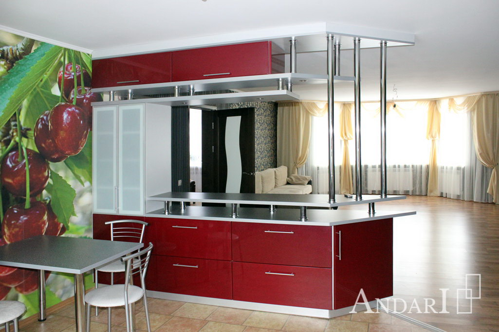 Барная стойка между кухней и гостиной - Андари