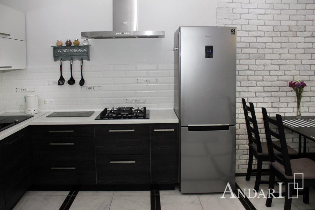 Угловая кухня из пластика фото Андари - Андари