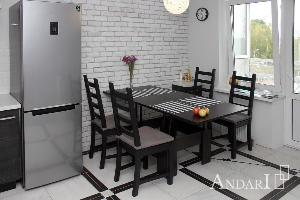 Обеденная зона с раскладным столом на кухне - Андари