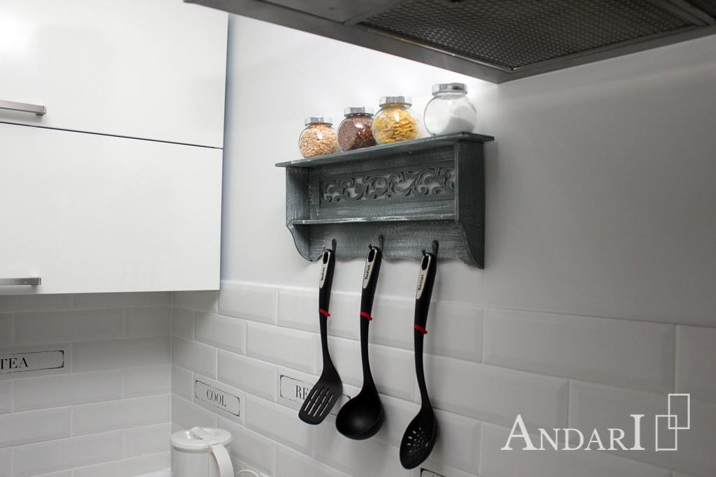 Оригинальный декор угловой кухни - Андари
