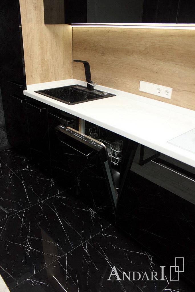 Встроенная посудомоечная машина на кухне - Андари