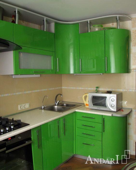 Андари зеленая угловая кухня - Андари