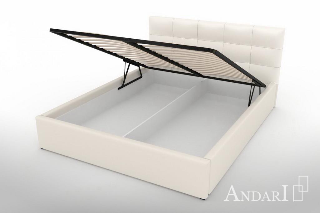Кровать из экокожи с подъемным механизмом - Андари