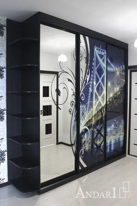 Трехдверный шкаф-купе с УФ-печатью - Андари